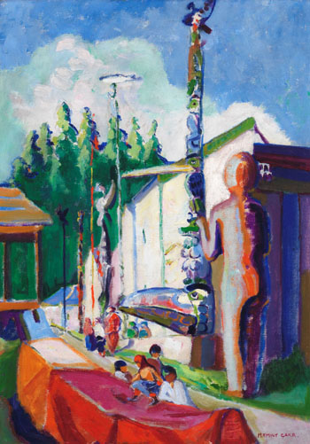 Alert Bay (with Welcome Figure) by Emily Carr