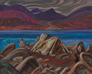 Eskimo Summer Camp, Pangnirtung by Alexander Young (A.Y.) Jackson