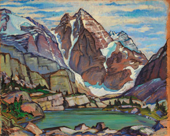 Mt. Ringrose from Near Lake Oesa, Lake O'Hara, BC by James Williamson Galloway (Jock) Macdonald