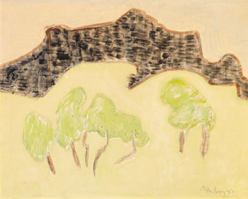 Old Mountain, Young Trees by Milton Avery