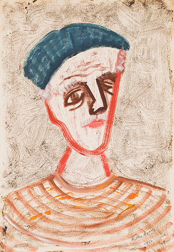 Myself in Blue Beret by Milton Avery