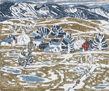 Snow Patches, Boston Corners by David Brown Milne