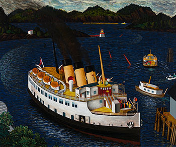 Steamer Arriving at Nanaimo by Edward John (E.J.) Hughes