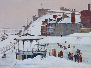 The Skating Rink, Dufferin Terrace by Robert Wakeham Pilot