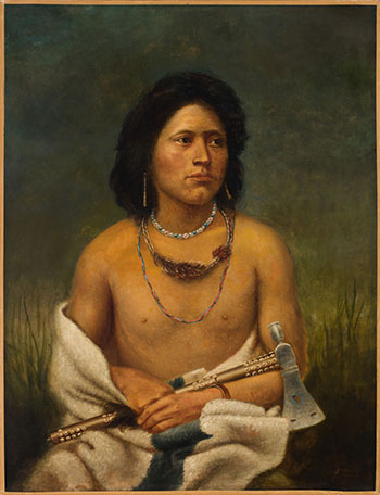 Brave of the Sioux Tribe by Frederick Arthur Verner