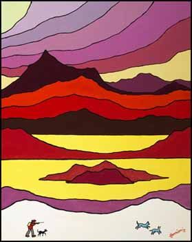 Red Sky by Ted Harrison