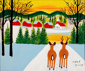 Two Deer by Maud Lewis