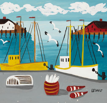 Fishing Boats by Maud Lewis