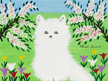 White Cat by Maud Lewis