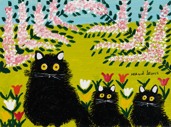 Black Cats by Maud Lewis