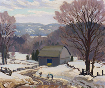 Winter Scene by Frederick Stanley Haines