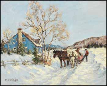 Winter Scene by Berthe Des Clayes