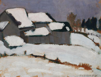 Barns in Winter by Efa Prudence Heward