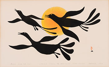 Birds over the Sun by Kenojuak Ashevak