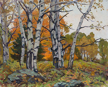 Birches and Maples by Herbert Sidney Palmer