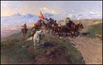 A Skirmish in the Caucasus by Frants (Franz) Roubaud