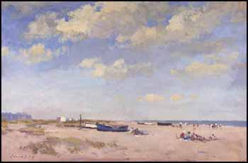On the Beach - Great Yarmouth by Edward Seago