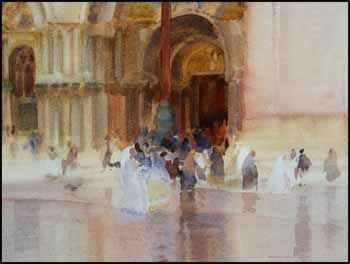 A Venetian Impression, Saint Marks Square by William Russell Flint