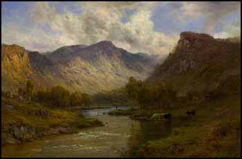 The Tay near Dunkeld by Alfred de Breanski Sr.