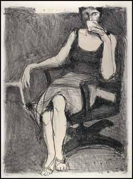 Seated Woman with Drink by Richard Diebenkorn