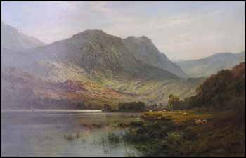 A Scottish Lake by Alfred de Breanski Sr.