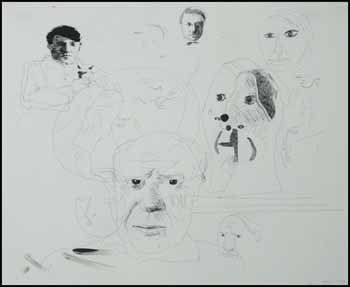 Paris: Studies of Heads by David Hockney