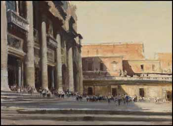 Outside St. Peter's, Rome by Edward Seago