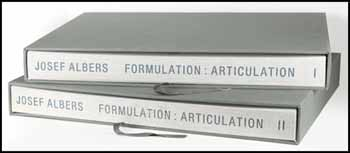 Formulation Articulation I, II by Josef Albers