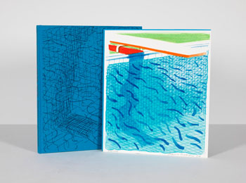 Pool Made with Paper and Blue Ink for Book / Paper Pools by David Hockney