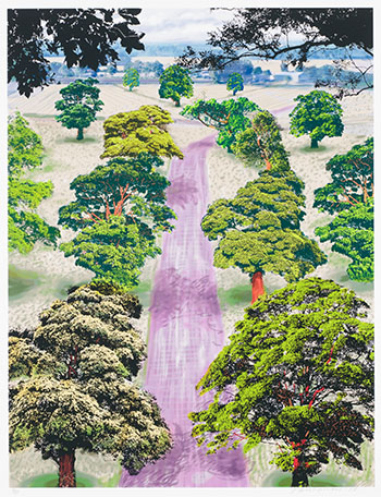 Summer Road Near Kilham by David Hockney