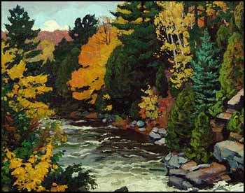 Below the Mill-Race, Gull River, Haliburton by Herbert Sidney Palmer