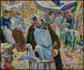 Geese, Kingston Market by Andre Charles Bieler