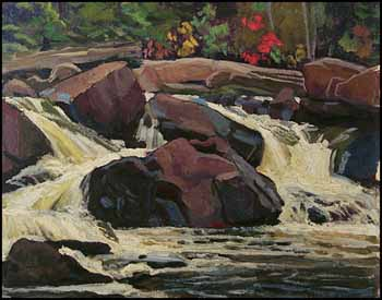 Rapids on South River by Frederick Stanley Haines
