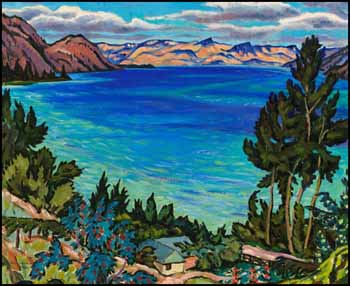 Okanagan Lake from Peachland by James Williamson Galloway (Jock) Macdonald