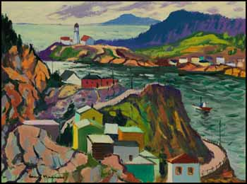 The Battery, St. John's, Newfoundland by Henri Leopold Masson