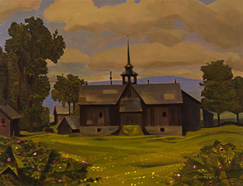 The Darling Barn in Medonte County, Ontario by Charles Fraser Comfort