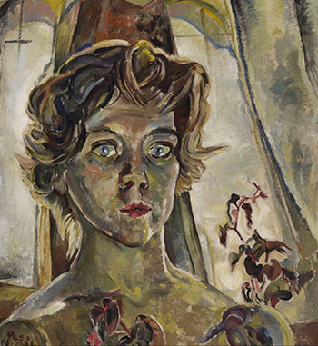 Self Portrait with Begonia by Pegi Nicol MacLeod