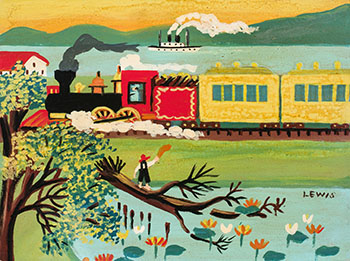 Passing Train by Maud Lewis