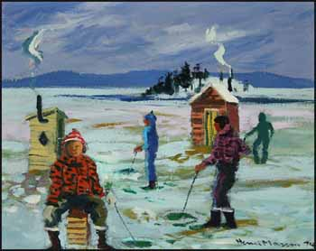 Ice Fishermen by Henri Leopold Masson