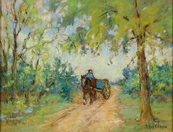 The Blue Cart by Berthe Des Clayes
