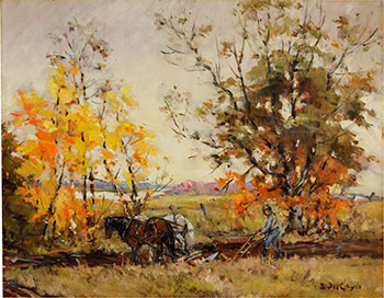 Autumn Ploughing by Berthe Des Clayes