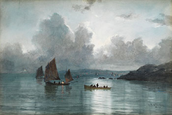 Herring Boats, St. Ives Bay by Lucius Richard O'Brien