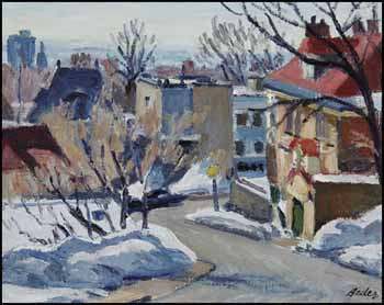 Hilly Street, March by Jack Beder