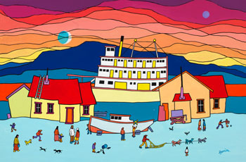 Boats by Ted Harrison