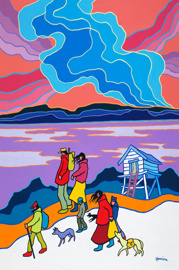 The Blue Cache by Ted Harrison