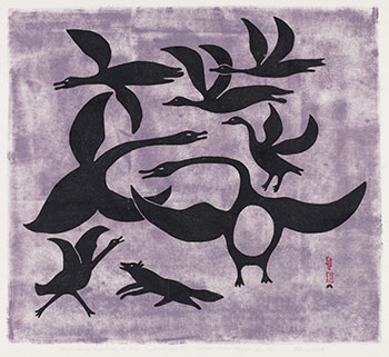 Geese Frightened by a Fox by Kenojuak Ashevak