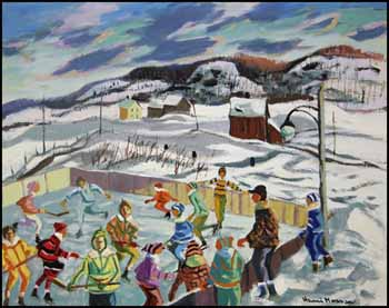 Skating Rink Near Saint-André-Avellin, Québec by Henri Leopold Masson