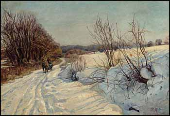 Untitled (Winter Scene) by Peder Monsted