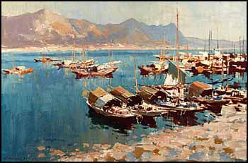 Hong Kong Harbour by Edward Seago