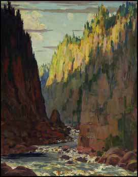 The Agawa Canyon, Algoma, Ontario by George Agnew Reid